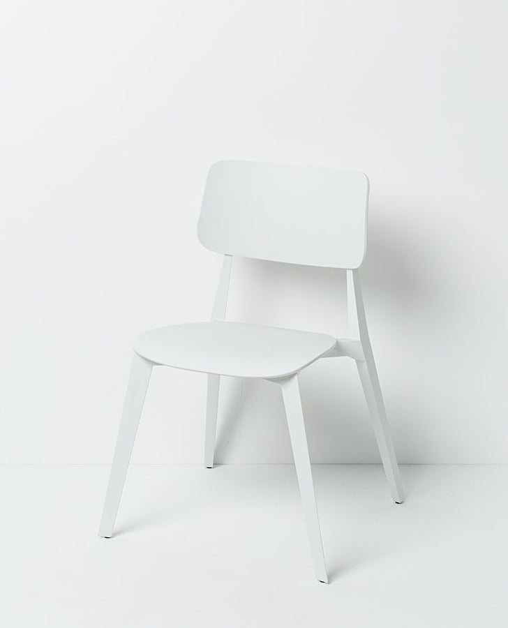 Stellar Dining Chair Stackable White Chair Papaya