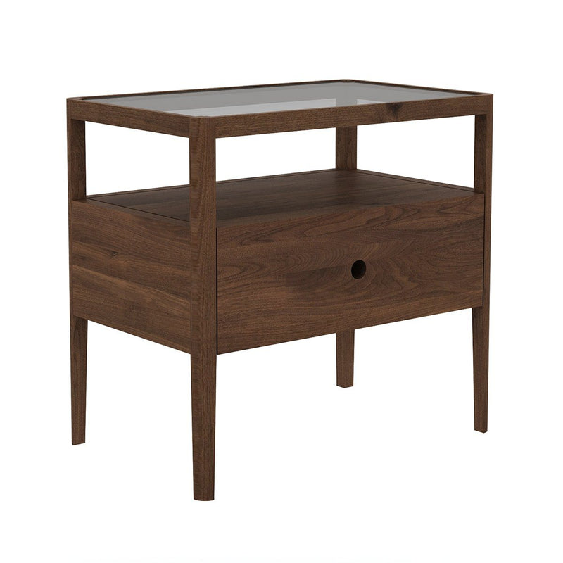 Walnut Spindle Bedside Table Bedside Table Ethnicraft