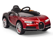 Burgundy Toddler Bugatti Remote Control Ride On with Leather Seat