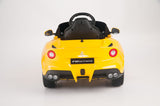 Yellow Ferrari F12 Berlinetta Special Edition Remote Control Ride On Car With 12V Motor