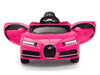 Pink Toddler Bugatti Remote Control Ride On with Leather Seat