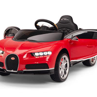 Red Toddler Bugatti Remote Control Ride On with Leather Seat