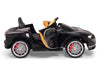 Side View Toddler Bugatti Remote Control Ride On with Rubber Tires