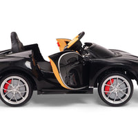 Side View Toddler Bugatti Remote Control Ride On Car with Rubber Tires
