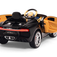 Toddler Bugatti Remote Control Ride On Cars with Rubber Tires