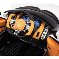Interior Bugatti Remote Control Ride On with Leather Seat