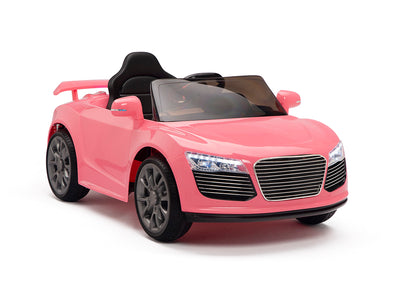 Pink Remote Control Audi R8 Style Ride On Car W/12V Motors and Rubber Tires