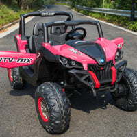 xmx 12v UTV Pink for toddler with remote control