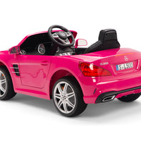 SL500 ride on car for toddlers with leather seat