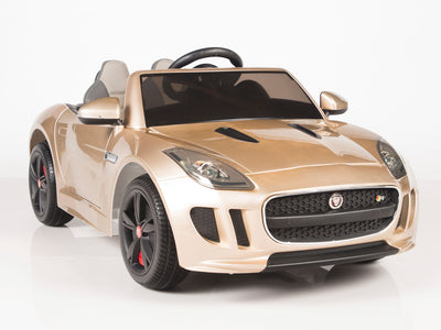 cristal champagne Jaguar F-Type Ride On Luxury Sports Car with remote control