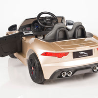 Jaguar F-Type Ride On Luxury Sports Car with remote control rear view