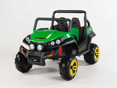 Green Trail Blazer 4WD Remote Control Ride On 2 Seat Side x Side UTV W/4 Motors