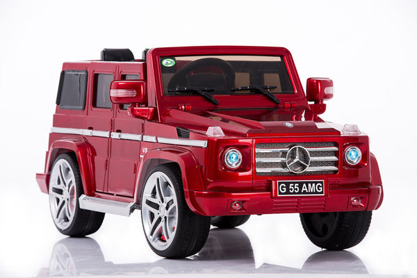 Mercedes benz big remote control electric ride on g55 amg for Red mercedes benz power wheels