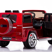 Red Mercedes-Benz Remote Control Ride On G55 AMG G Wagon W/Rubber Tires and Opening Doors