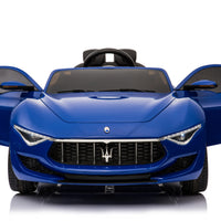 CarTots.com Maserati Alfieri toddler ride on car with remote control, leather seat, touchscreen, opening doors and leather seat