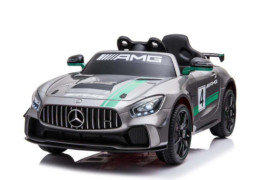 Mercedes Amg Gt4 Limited Edition Toddler Remote Control Ride On Sports Car W Video Screen