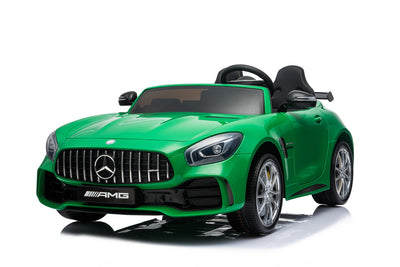 Green Mercedes for Toddlers with 2 seats and remote control