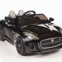 black Jaguar F-Type Ride On Luxury Sports Car with remote control