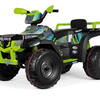 24 Volt Polaris Sportsman 850 Two Seat Ride On 4 Wheeler in Lime