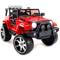 Remote Control Ride On jeep with rubber tires for toddlers
