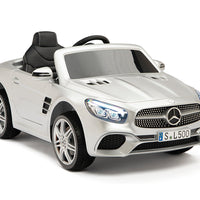 Toddler Mercedes with leather seat and rubber tires
