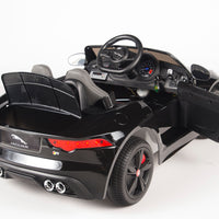 Jaguar F-Type Ride On Luxury Sports Car with remote control in black