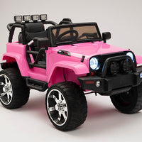 Pink jeep with remote control and 4WD Four Motors