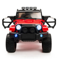 Red jeep with remote control and 4WD Four Motors