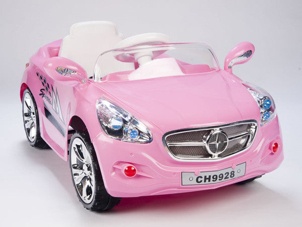 Pink European Autobahn AMG Style Ride On Race Car W/Remote Control and MP3