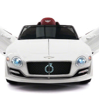 White Bentley EXP 12 Electric 12V Sports Remote Control Ride On Car