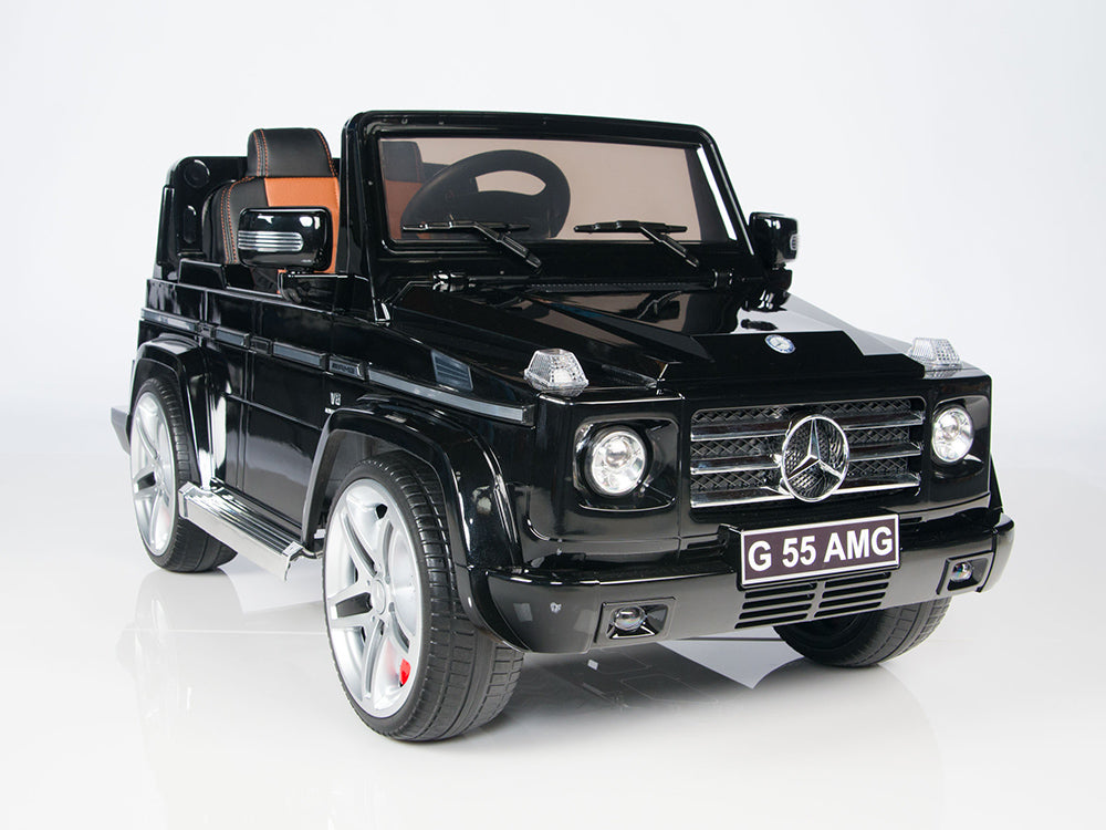 toddler mercedes g55 with leather seat remote and rubber tires