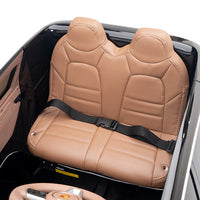 Leather Toddler Seat with Seat Belt for Safety