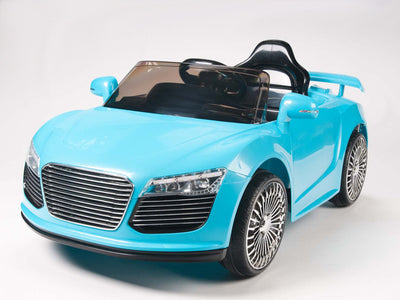 Remote Control Audi R8 Style Ride On Car W/12V Motors & MP3