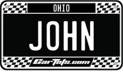 Mini Personalized Car Tots Plate with Mounting Strips
