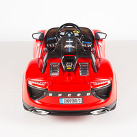 Porsche Style 12V Spyder 918 Sports Car With Remote and Rubber Tires