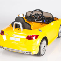 Remote Control Ride On Audi TTS in Yellow