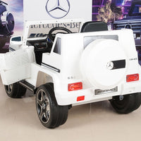 G63 Mercedes Toddler Ride On SUV with Remote Control in White