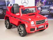 G63 Mercedes Toddler Ride On SUV with Remote Control in Red