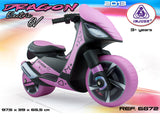 Dragon Ride On Motorcycle 6V In Pink