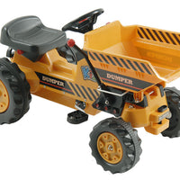 Ride On Pedal Power Tractor with Dump Bucket Construction Vehicle