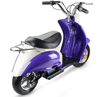 Electric 24 Volt Moped Ride On Scooter in Purple