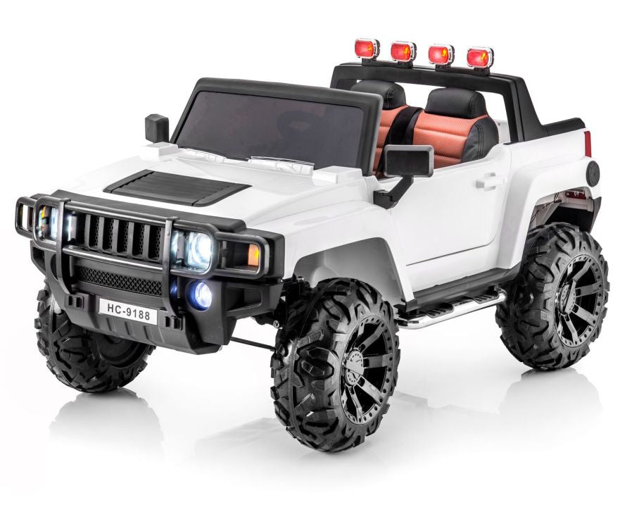 Hummer Style 12v 2 Seat Remote Rc Ride On Pick Up Truck W Rubber