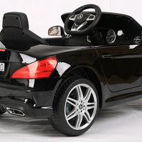 Black Mercedes Benz for toddlers with remote