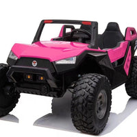 Pink Side by Side Remote Ride On 24 Volt Buggy