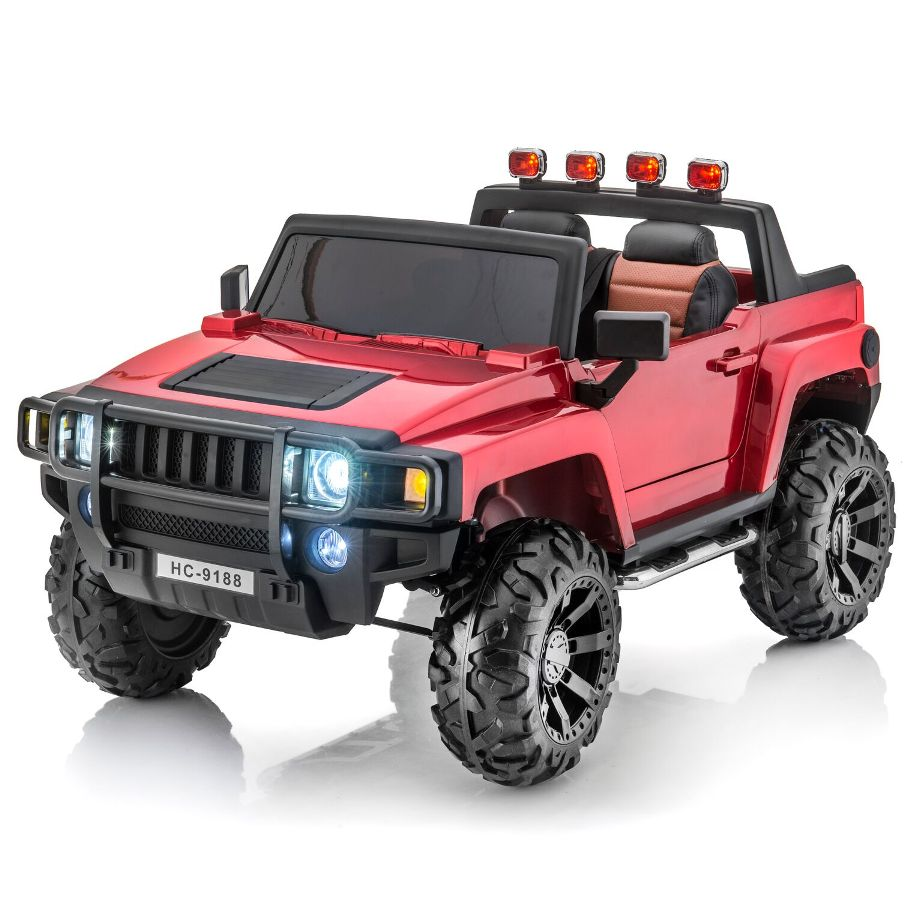 Hummer Style 12V 2 Seat Remote RC Ride On Pick-Up Truck w/Rubber Tires