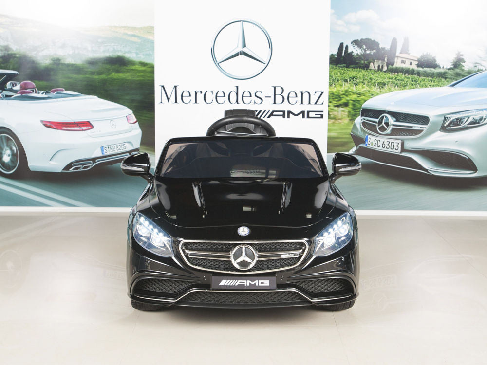 Black AMG Mercedes S63 Remote Control Ride On Coupe With Rubber Tires for Toddlers