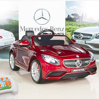 AMG Mercedes S63 Remote Control Ride On Coupe With Rubber Tires for Toddlers