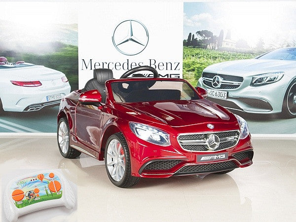 AMG Mercedes S63 Ride On Coupe With Remote Control and Rubber Tires for Toddlers