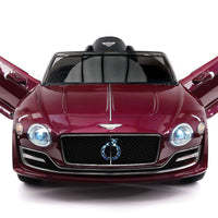 Burgundy Bentley EXP 12 Electric 12V Sports Remote Control Ride On Car