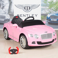 Pink Bentley Premium Remote Control Ride On Car With 12V Motor